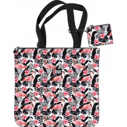 torba + portfelik STRIGHT Flamingo Pink & Black  S