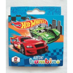 kredki świecowe 12k HOT WHEELS Bambino  0016