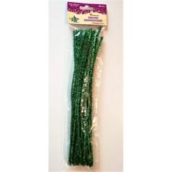 druciki kreatywne połyskujące zielone 0,6 x 30 cm