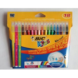 flamastry 18k BIC Couleur Fluo  6313
